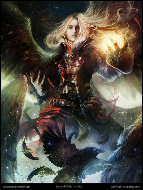 Ania Mitura DalisaAnja deviantart ilustrações fantasia sombria Ressurect Dark Angel - avançado