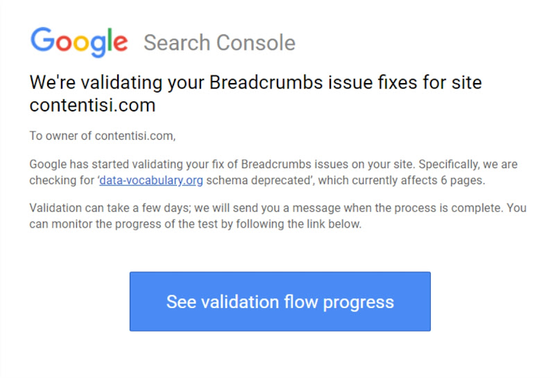Contentisi - Email Google Search Console