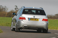 Back side view of BMW 5-Series Touring (E61)-530d