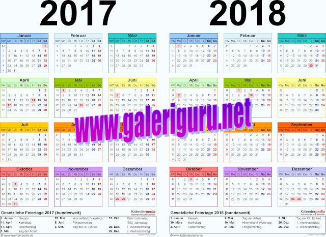 Aplikasi Kalender Pendidikan 2017/2018 Lengkap Dengan Cuti Bersama