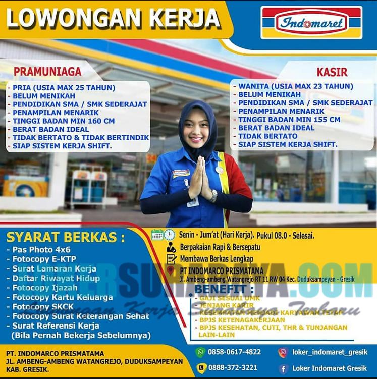 Open Recruitment Di Pt Indomarco Prismata Indomaret