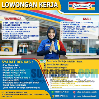 Open Recruitment di PT. Indomarco Prismata (Indomaret) Surabaya April 2019