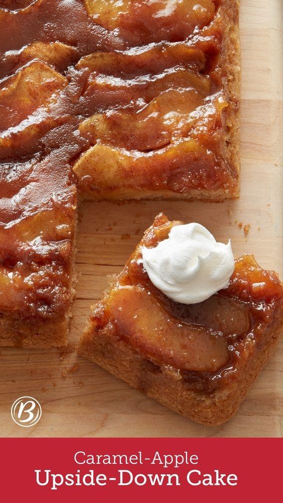 Caramel-Apple Upside-Down Cake