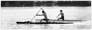 Kenusok a Tiszán edzenek