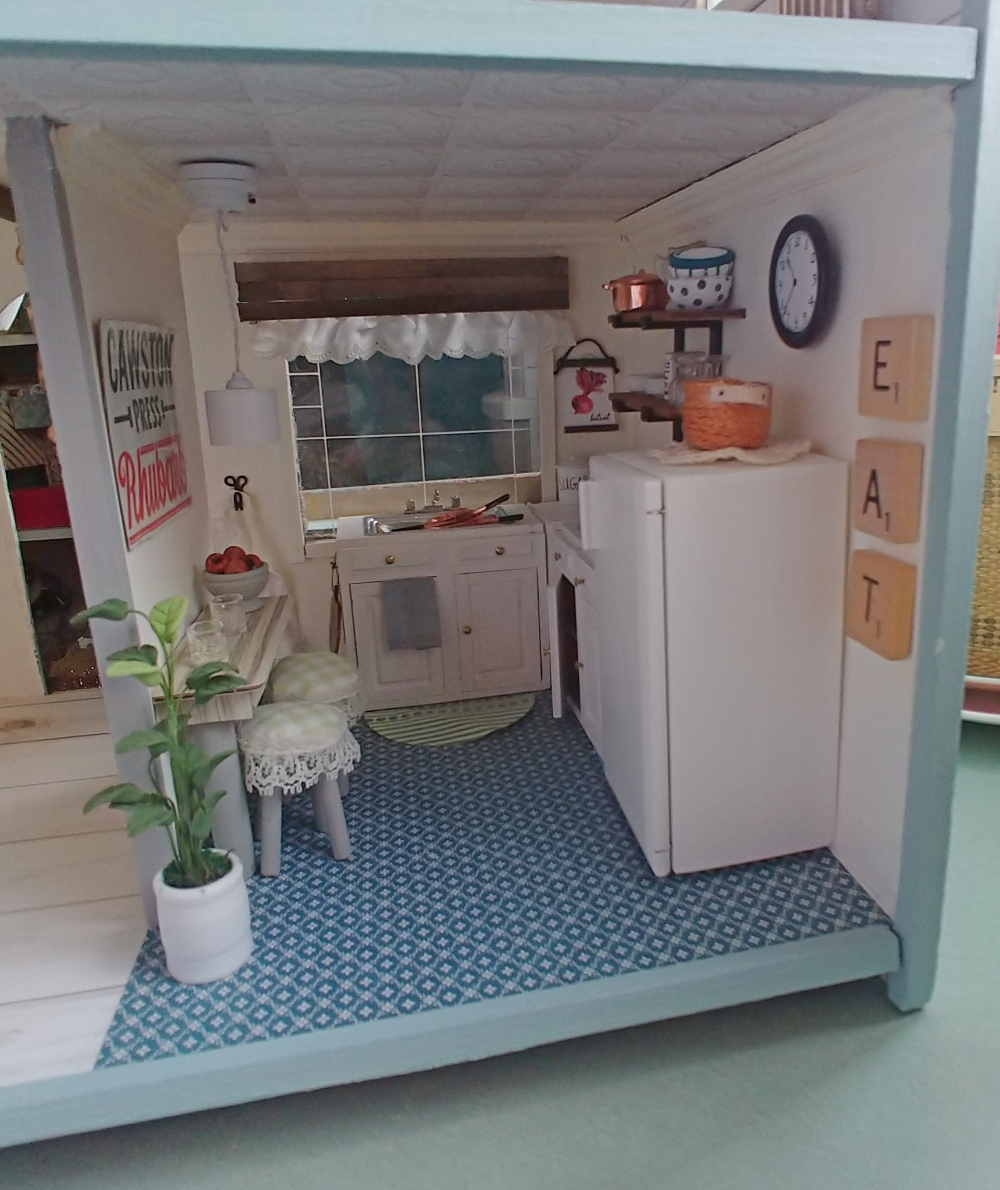 Dollhouse Kitchen Reveal Little Vintage Cottage