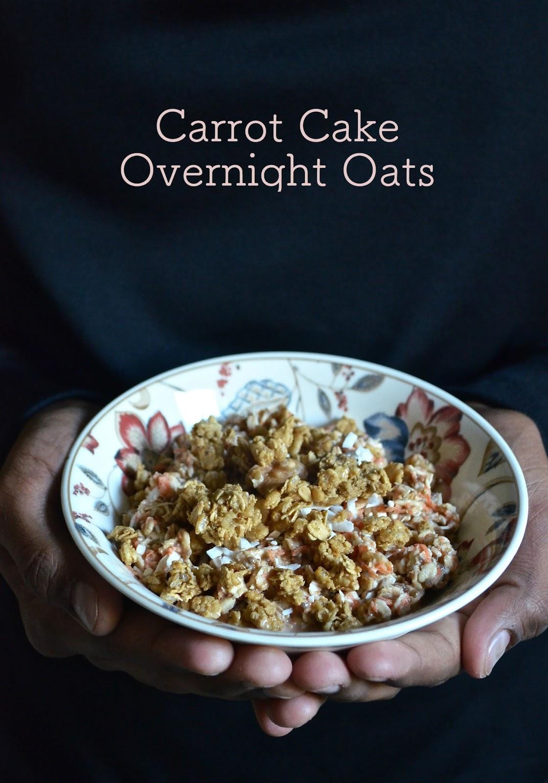 Overnight Soaked Oats Carrot Cake Recipe