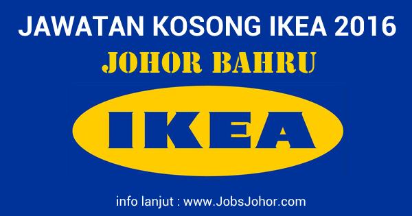 Jawatan Kosong IKEA Johor (Ikano Handel Sdn Bhd) 17 April 2016