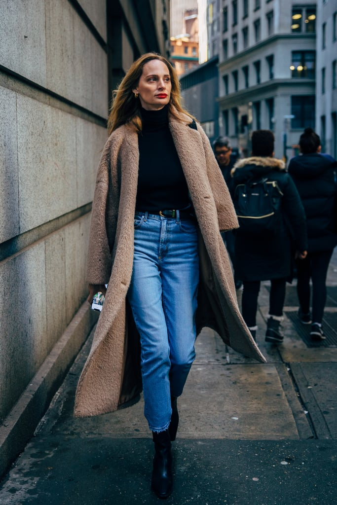 Try This Classic-Cool Denim Outfit for Winter — Easy Cold-Weather Dressing — Lauren Santo Domingo Street Style
