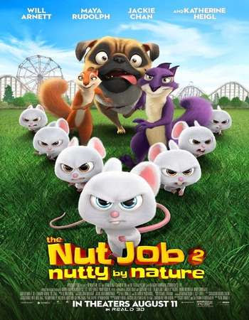 Poster Of Free Download The Nut Job 2: Nutty by Nature 2017 300MB Full Movie Hindi Dubbed 720P Bluray HD HEVC Small Size Pc Movie Only At worldfree4u.com