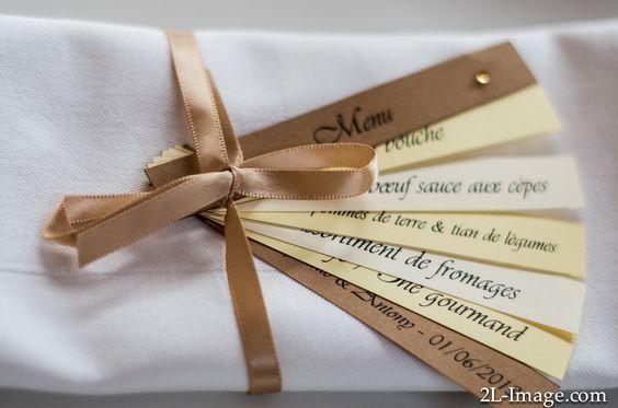 Diseño de menu para bodas creativas