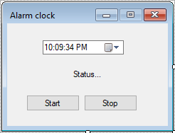 alarm clock in c#