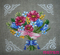cross stitch bukiet
