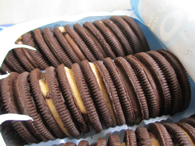 Freshly Opened Package of Reese's Peanut Butter Cup Oreos.