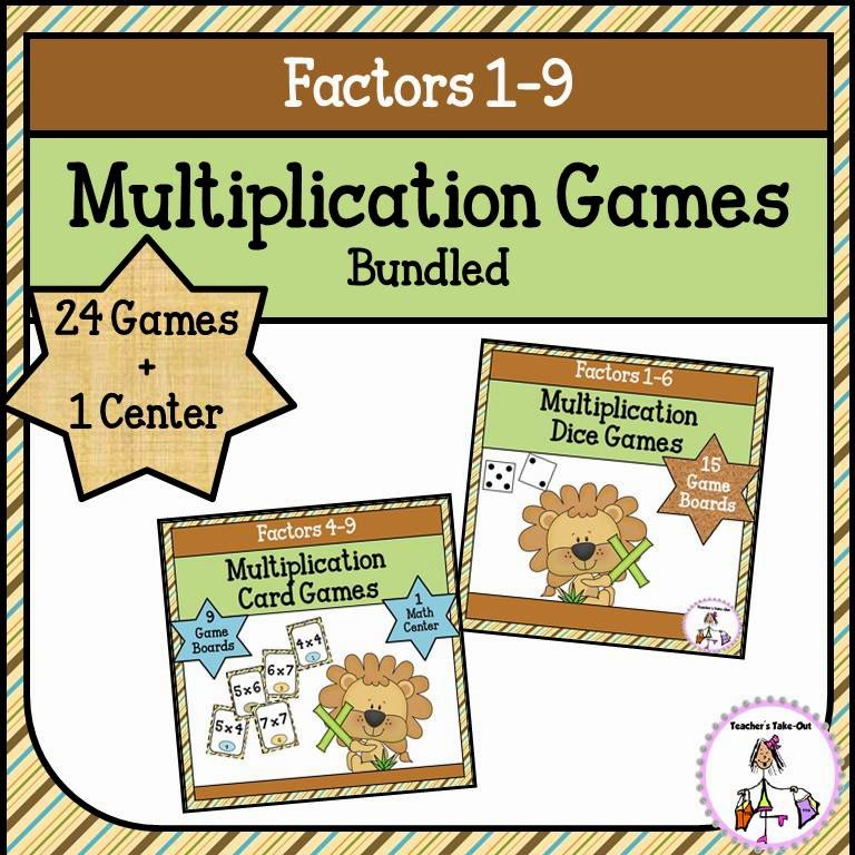 Multiplication Games Bundled