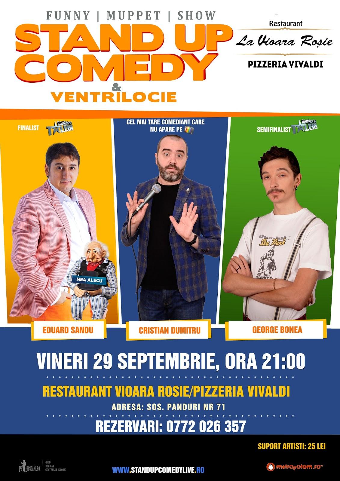Stand-Up Comedy & Ventrilocie Bucuresti Vineri 29 Septembrie