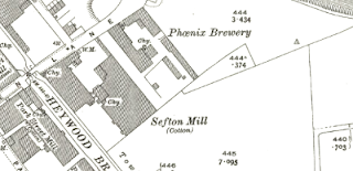 Sefton Mill, OS map, 1928.
