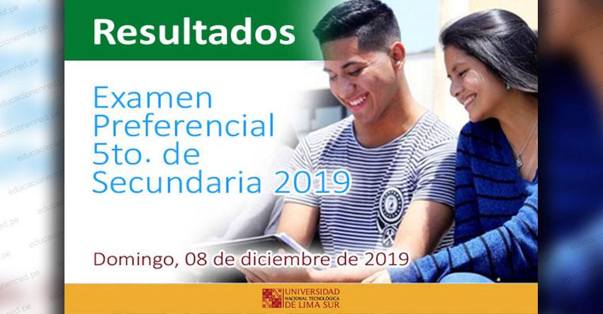 Resultados UNTELS 2019 (Domingo 8 Diciembre) Lista Ingresantes - Examen de Admisión - Modalidad 5to. Secundaria - Universidad Nacional Tecnológica de Lima Sur - www.untels.edu.pe