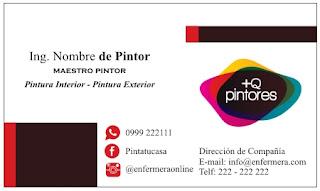 Tarjeta personal para pintores