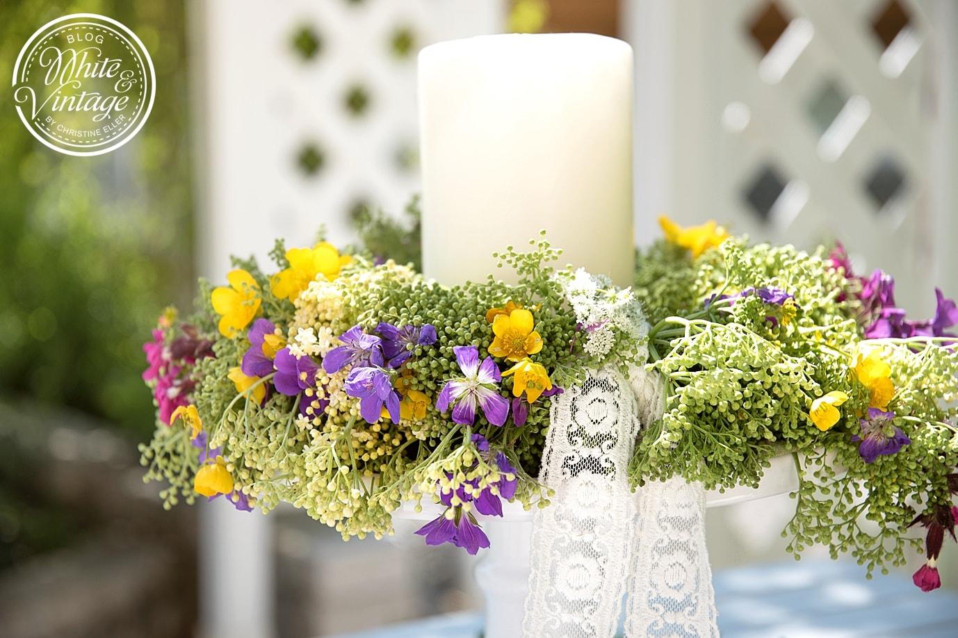 Blumenkranz aus Wiesenblumen selber machen