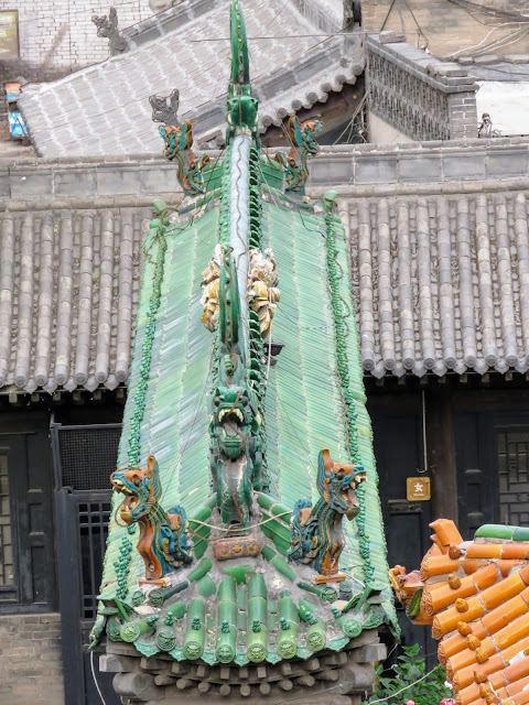 Dragon roof in Pingyao China