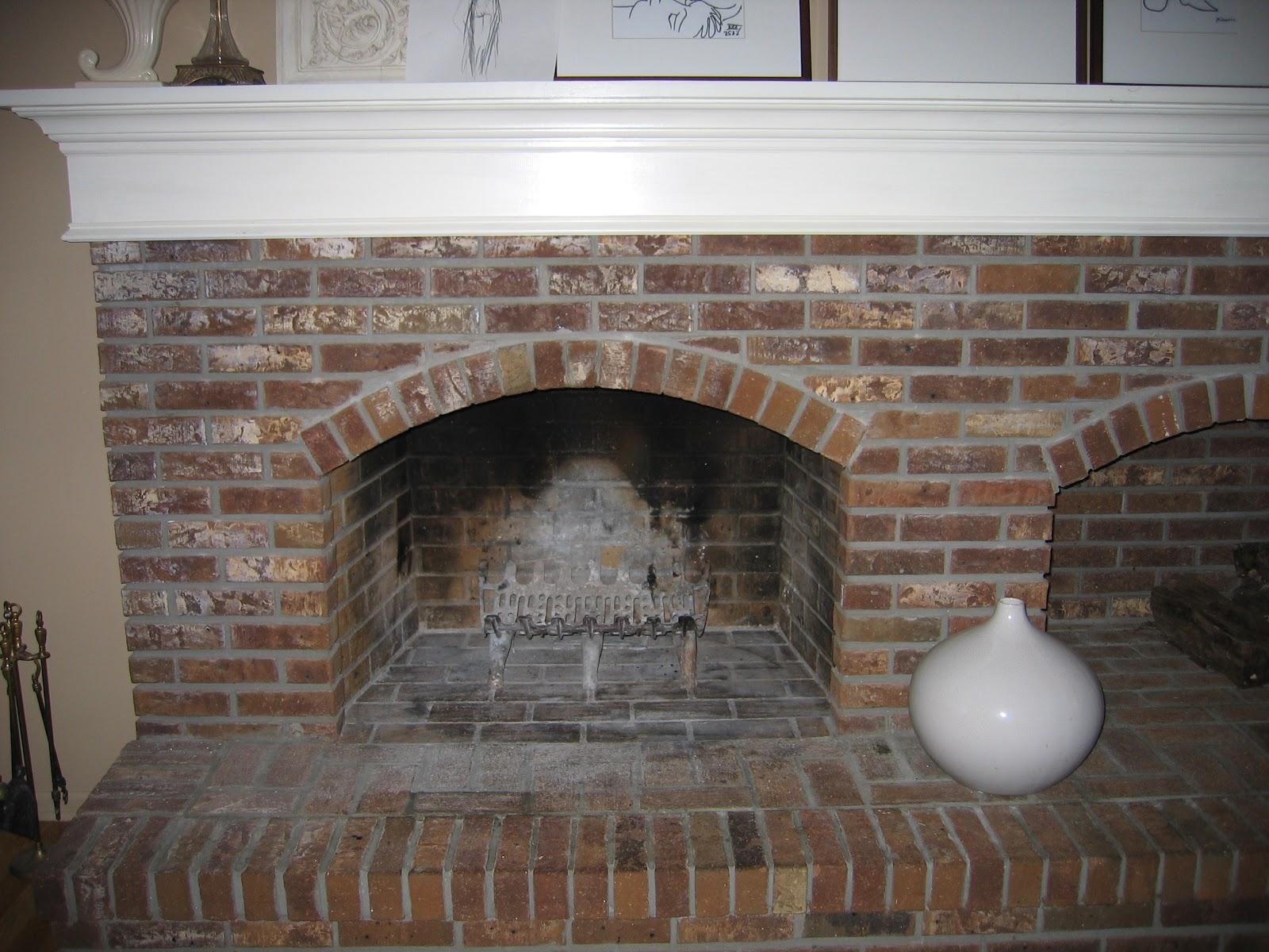 mad hatter fireplace. Aged Brick Fireplace