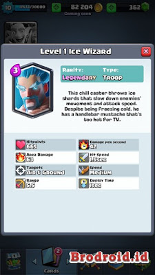 Ice Wizard Kartu Legendary Clash Royale