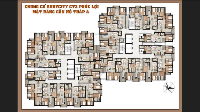 Mặt bằng căn hộ Ruby City Ct3