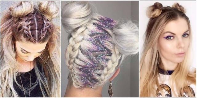 macarons sur la tete - coiffure estivale - coiffure d ete - bun - coiffure fun - coiffure pratique