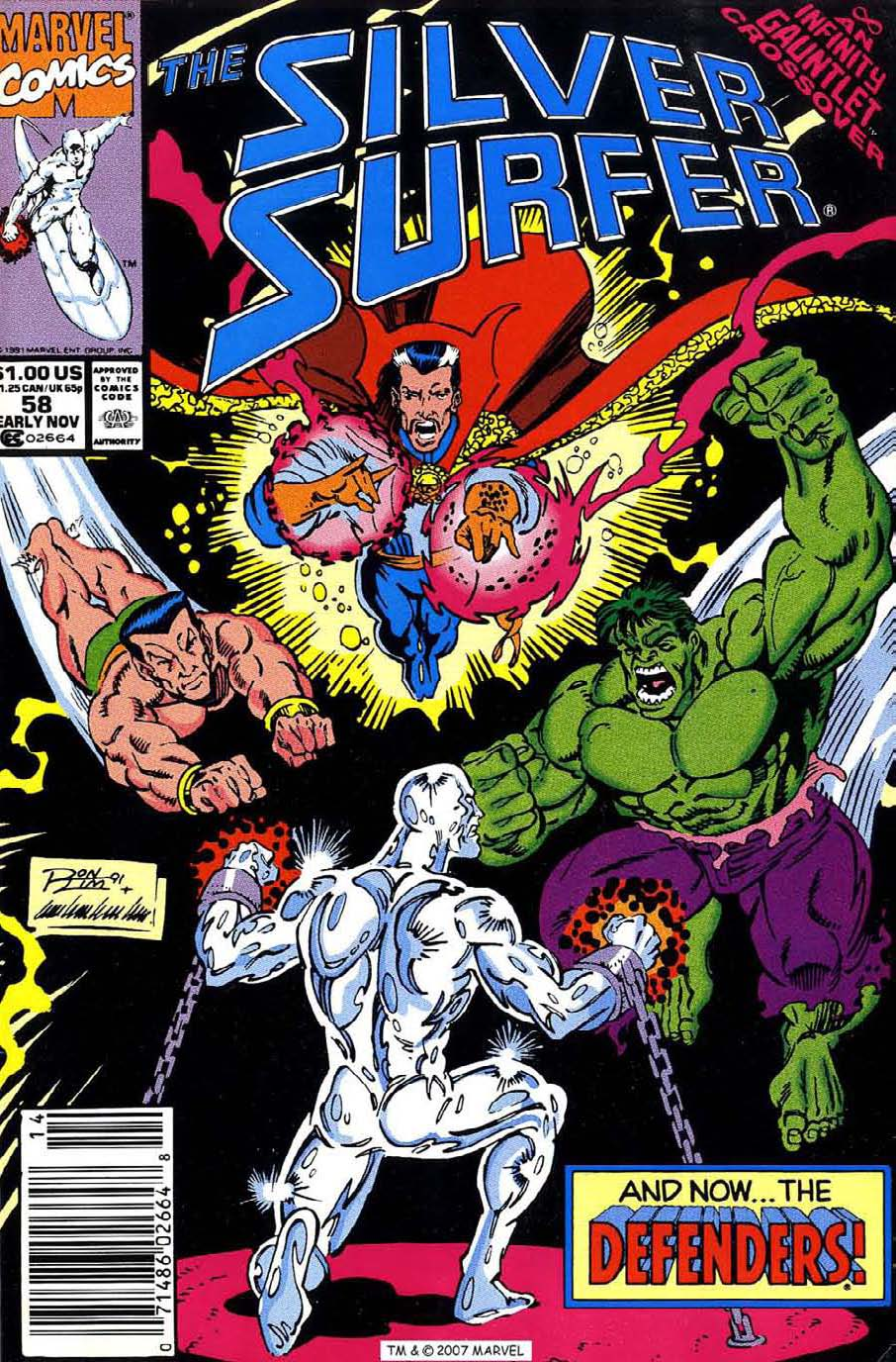 Silver Surfer (1987) issue 58 - Page 1