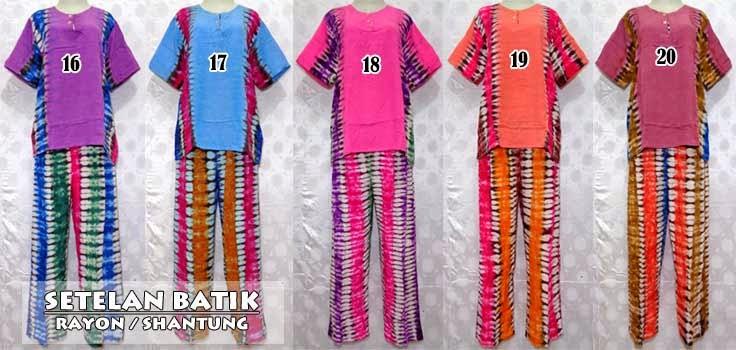 Setelan baju batik wanita dan celana - baju tidur batik