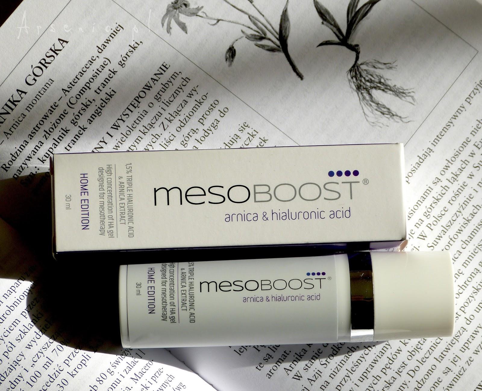 Żel-cudotwórca dla cer naczynkowych oraz podrażnionych zabiegami: MesoBoost Arnica&Hialuronic Acid