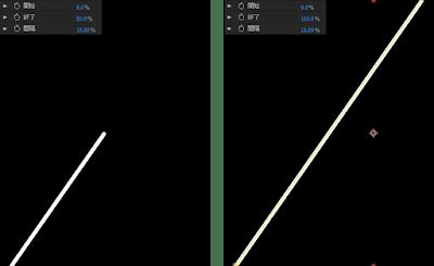 線エフェクトの操作