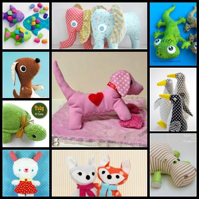 Animalitos de tela con patrón gratis.