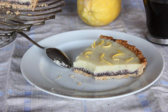 Cuillère et saladier : Tarte citron-pavot (vegan)