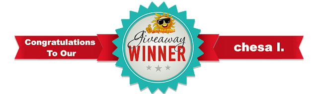 Congratulations to our Krazy Deal Daze giveaway winner Chesa I.