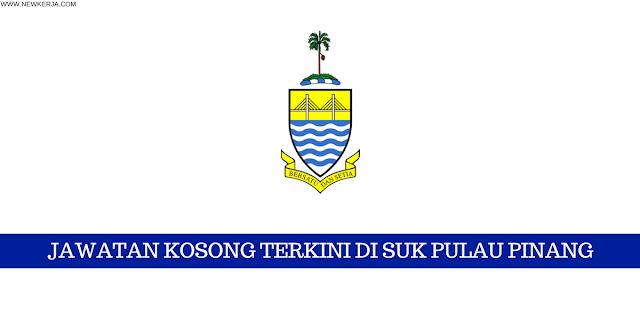 Jawatan Kosong Terkini di SUK Pulau Pinang - minima spm 2018