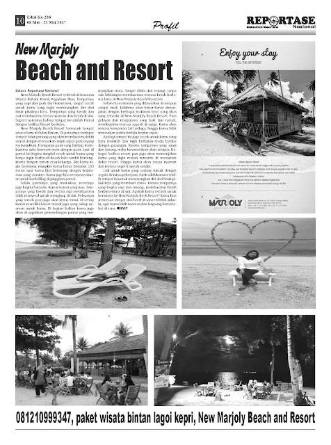 Visit Kepri New Marjoly Beach and Resort Bintan