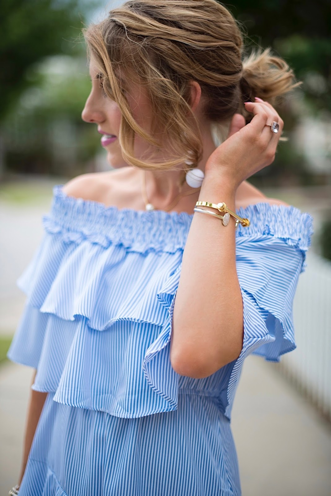 Ruffle Dress - Click through to see more on Something Delightful Blog!