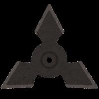 手裏剣のイラスト(三角型)