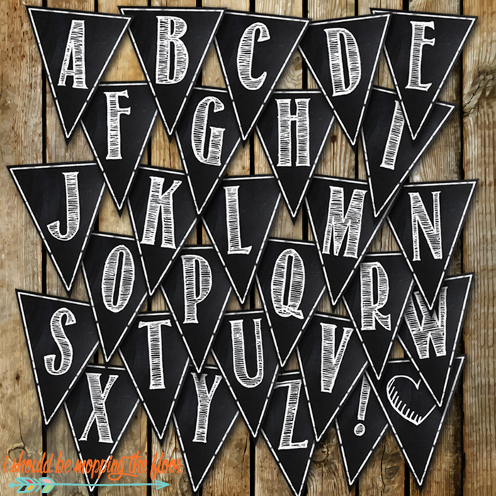 these free printable chalkboard banner letters a z are super versatile perfect for parties