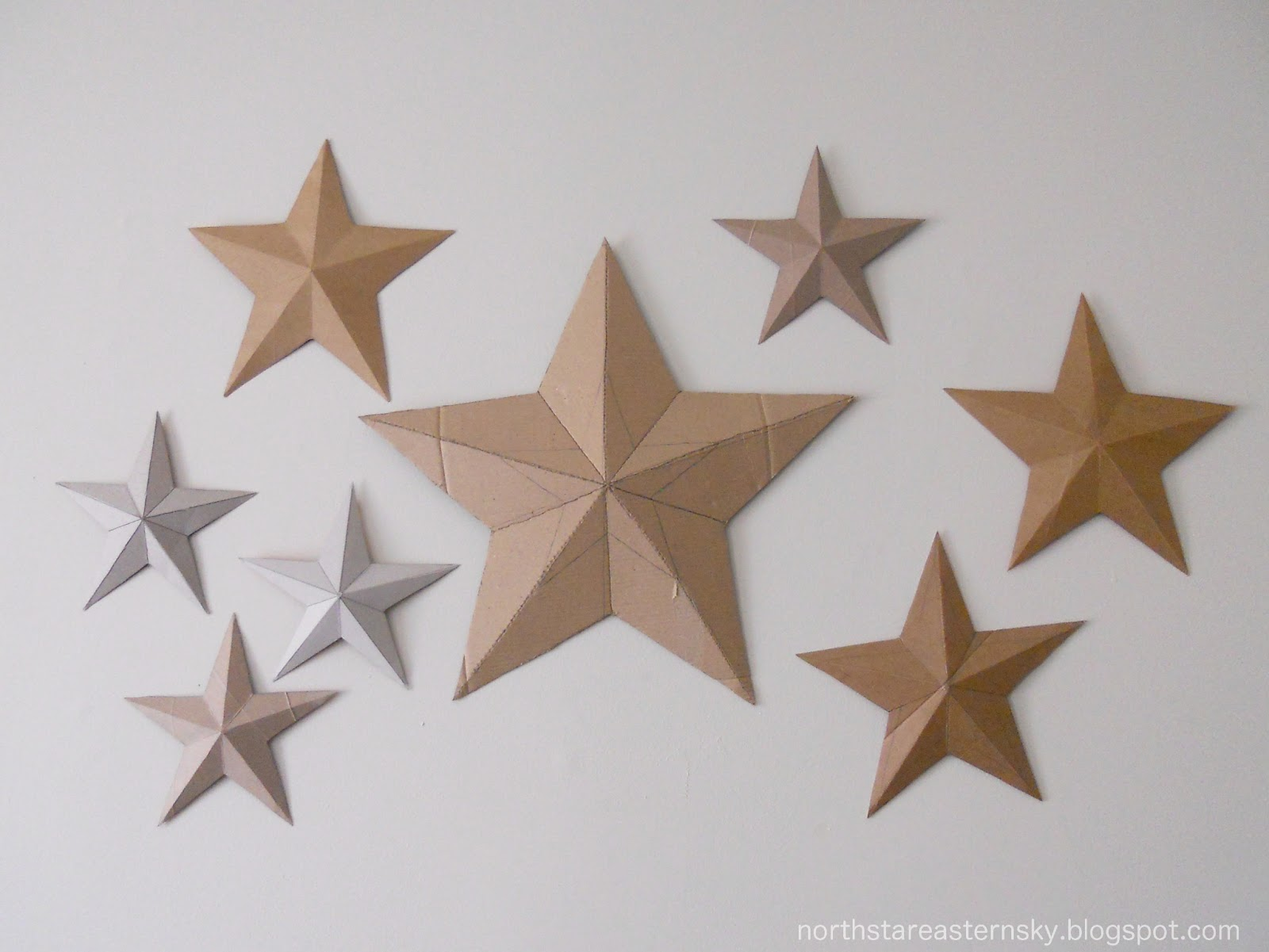 A North Star In An Eastern Sky: DIY: 3D Cardboard Stars