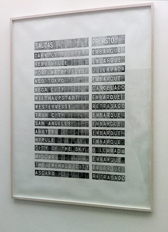 Alicia Framis  Departures, 2013  pencil on paper,  155.7 x 117.7 cm