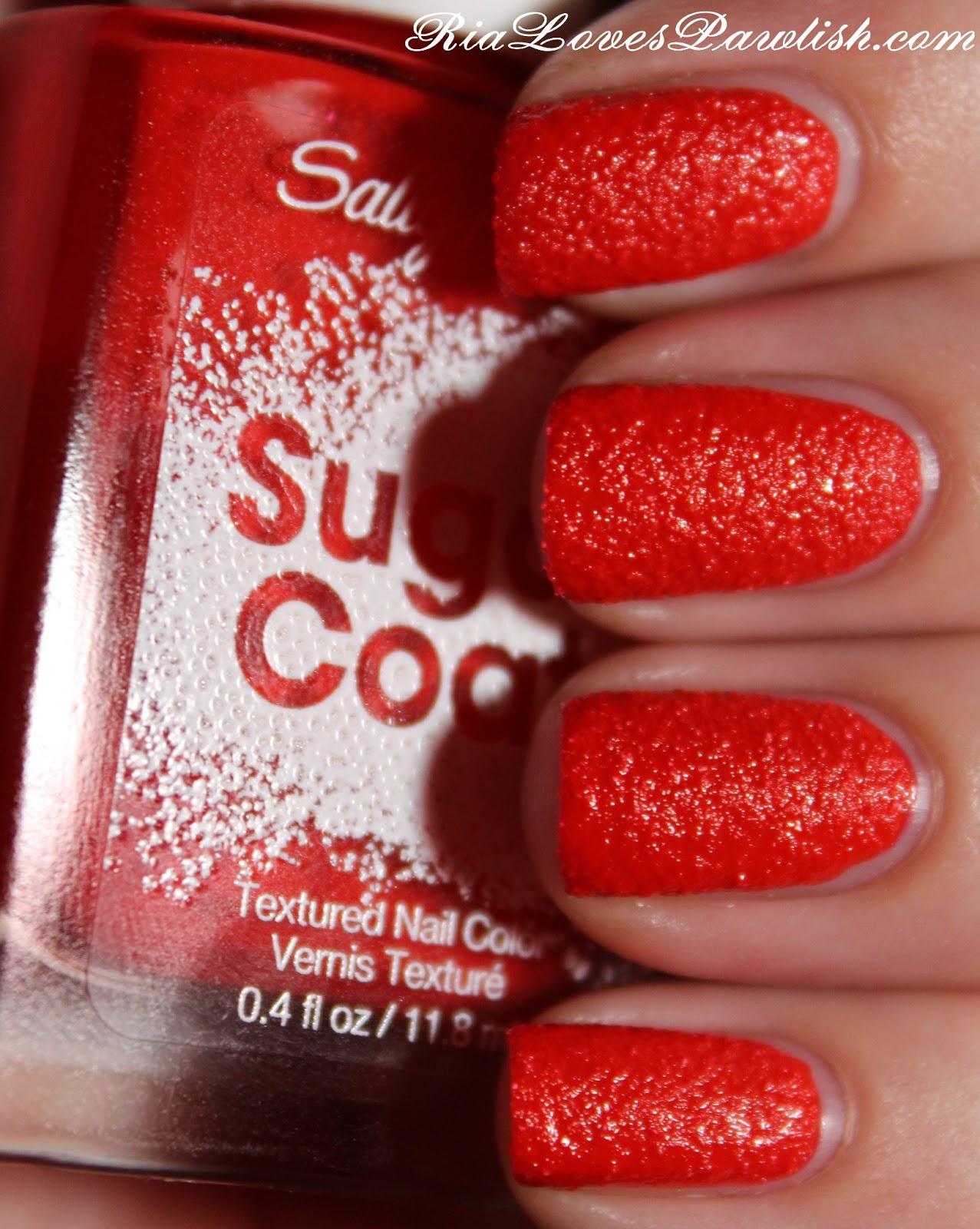 Ria Loves Pawlish Sally Hansen Sugar Coat Cherry Drop
