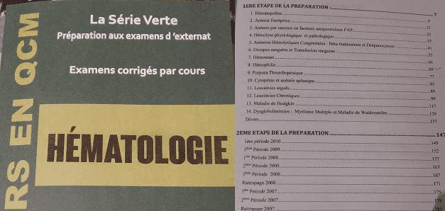 Série Verte Hématologie PDF gratuit