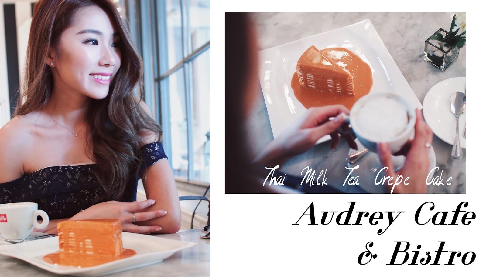 Audrey, bkk, crepe cake, coffee