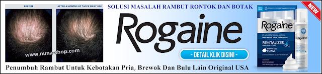 Rogaine Foam Minoxidil 5% - Solusi Penumbuh Rambut Untuk Kebotakan Pria, Brewok Dan Bulu Lainnya Original USA