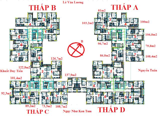 Mặt bằng tổng thể Việt Đức Complex