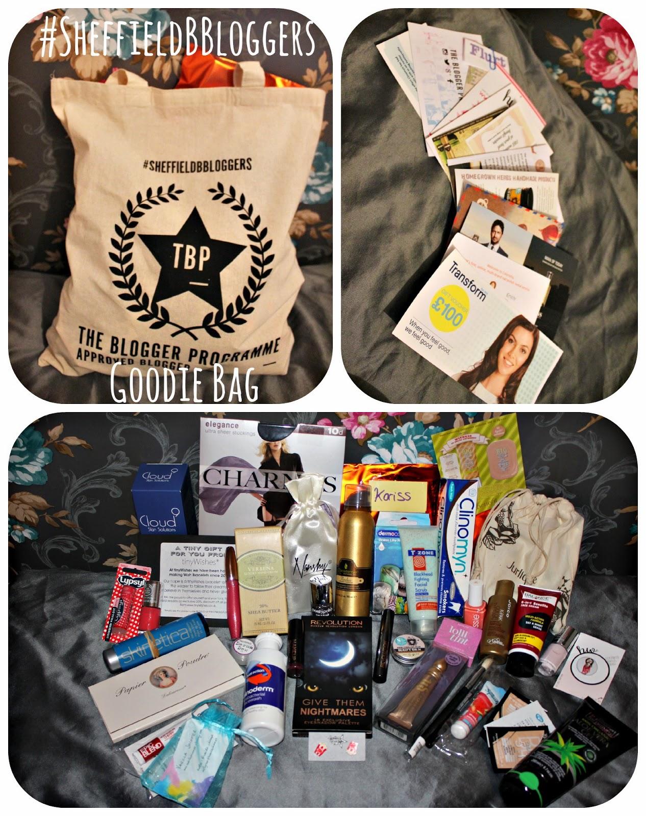 #SheffieldBBloggers Goodiebag