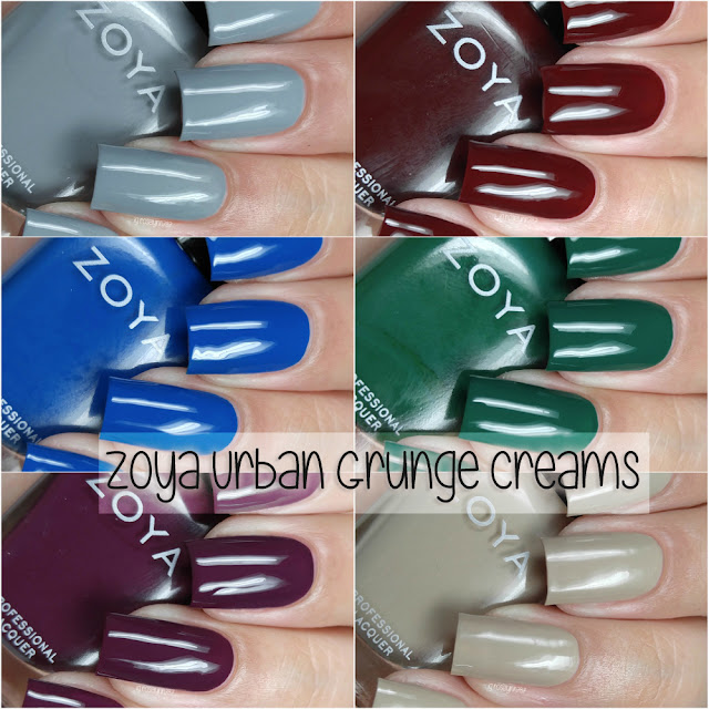 Zoya - Urban Grunge Creams Fall 2016 Collection