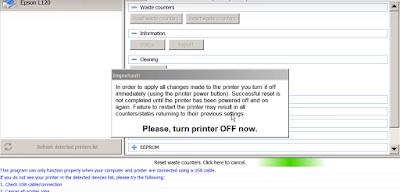 Cara Memperbaiki Printer Epson L120 Waste Ink Full Reset